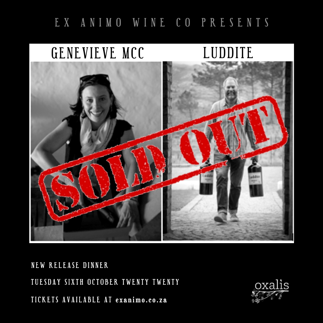 Genevieve Luddite Oxalis Dinner SOLD OUT