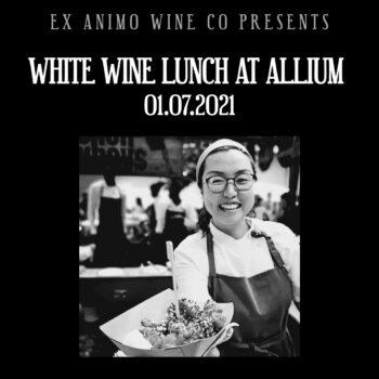 allium white wine lunch